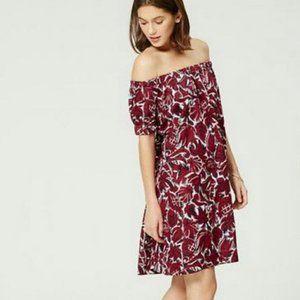 LOFT Beach Floral Off Shoulder Mini Dress Coverup